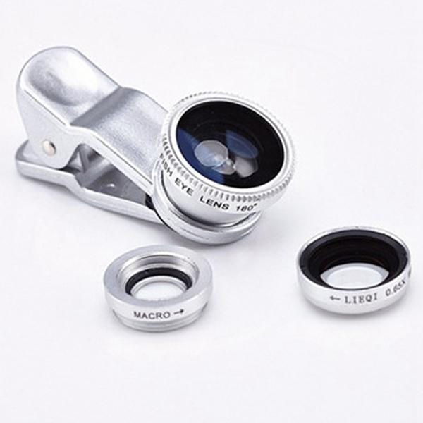 Universal 3 in 1 Mobile Camera Phone Wide Angle+ Macro Lens +Fish Eye