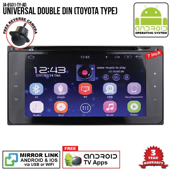 "UNIVERSAL TOYOTA SKY NAVI 7"" FULL ANDROID Double Din GPS DVD Player"