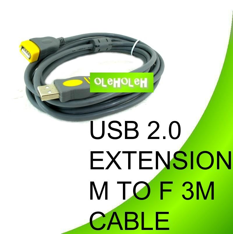 USB 2.0 3m Extension Cable A Female To A Male 3m meter