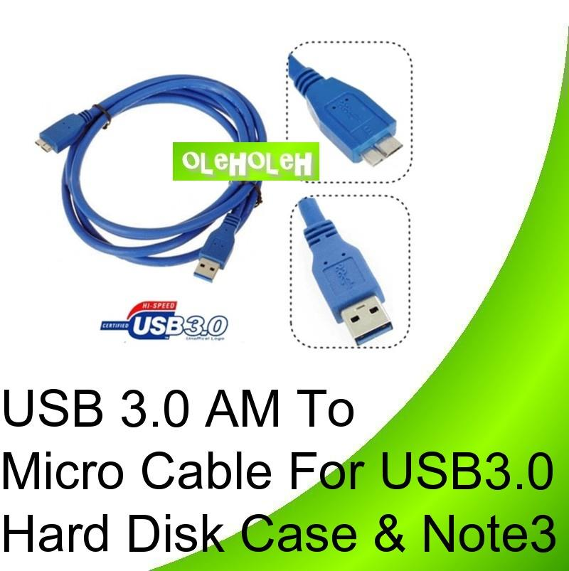 USB 3.0 AM to Micro Cable for external portable hard disk Note 3- 0.2m