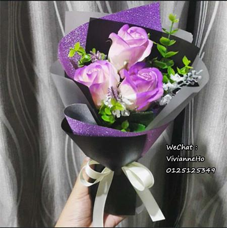 Valentine 2017 -  3 Rose Bouquet Set / Flower (Design 3)