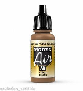 Vallejo Paint -  Model Air 71026 US Flar Brown (17ml)