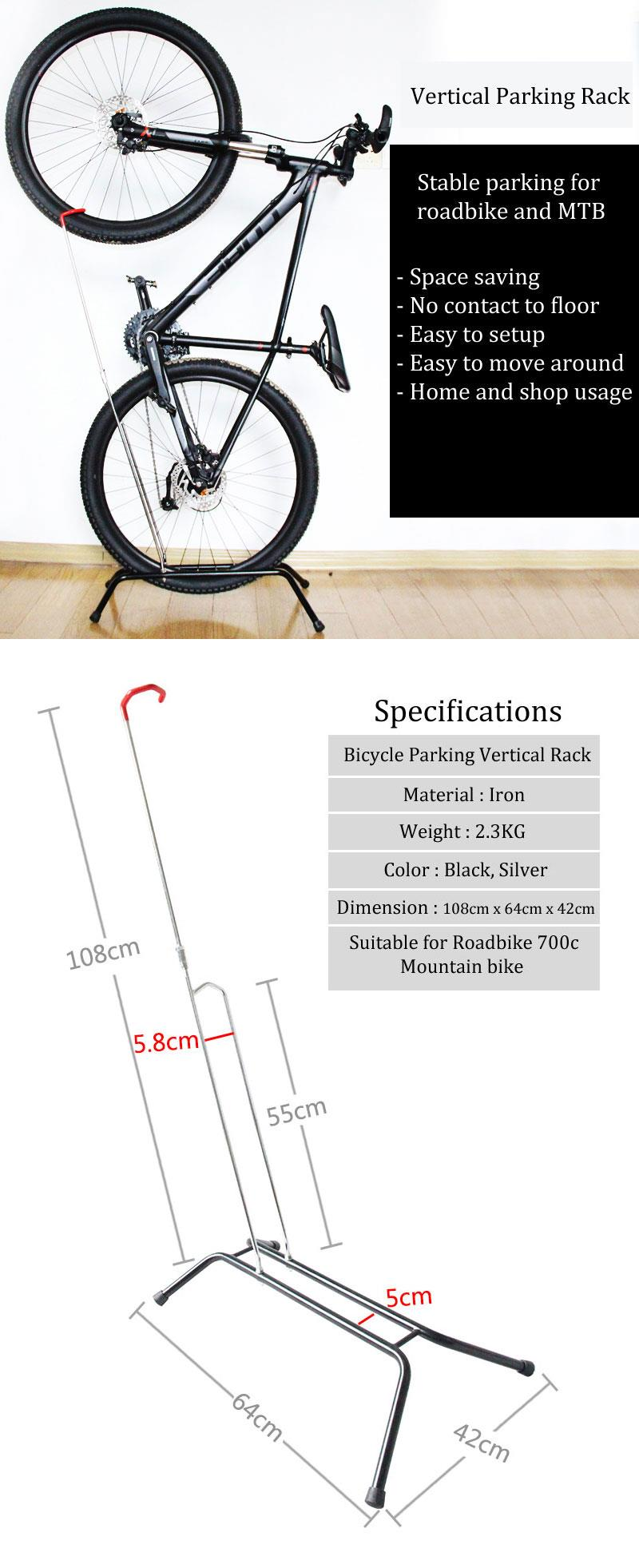 VERTICAL STAND FOR BICYCLE ROADBIKE MTB