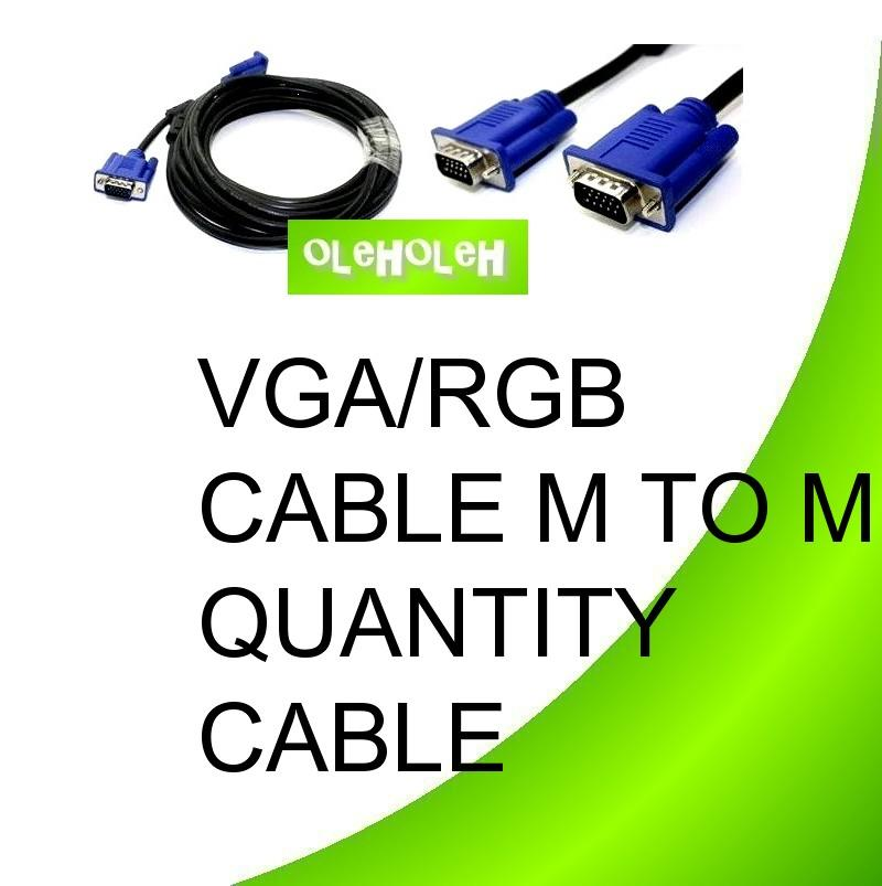 VGA/RGB Cable M to M Quality Cable With 2 Core 10m Cable