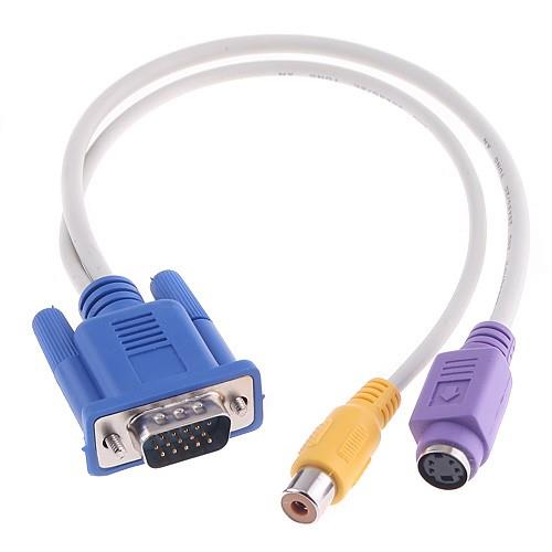 VGA TO S-Video + RCA cable