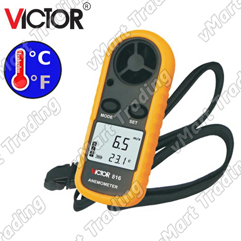 VICTOR 816 Digital Anemometer with Thermometer Function