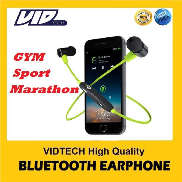 VIDTECH Bluetooth Earphone, Headset, Headphone for GYM and Sport