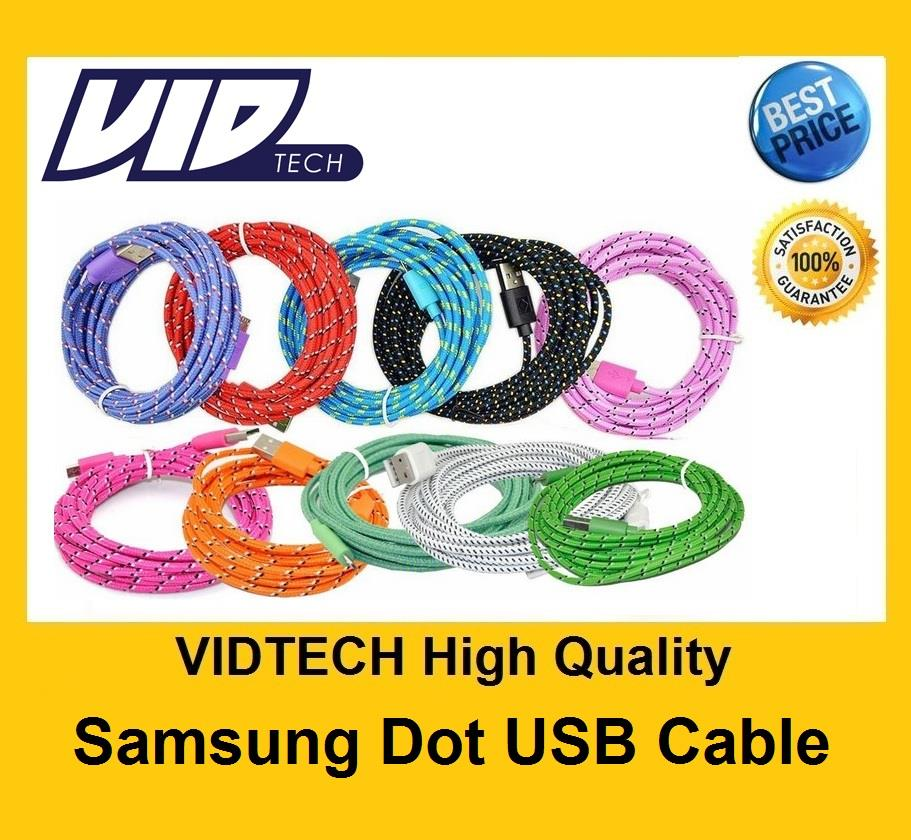 VIDTECH Dot USB Data Cable for Samsung HTC Sony Lenovo PROMOTION