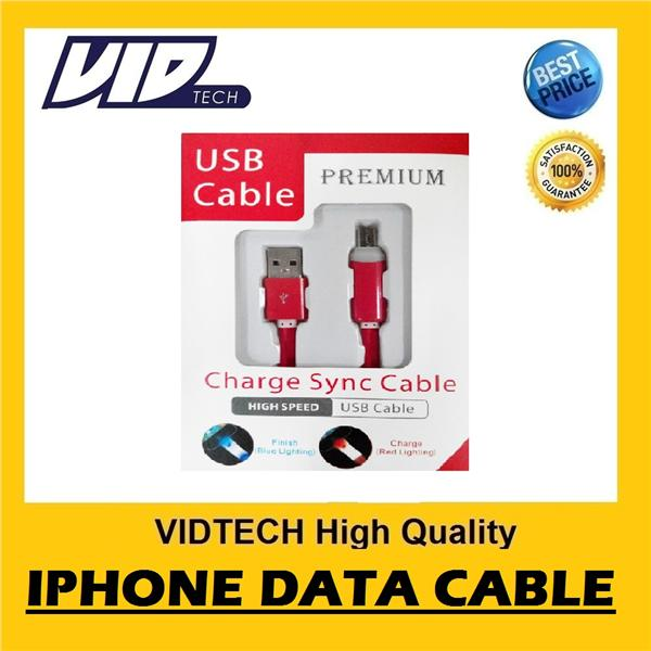 VIDTECH High Quality iPhone 5 5s 6 Plus Lighting Data Cable FEW COLOUR