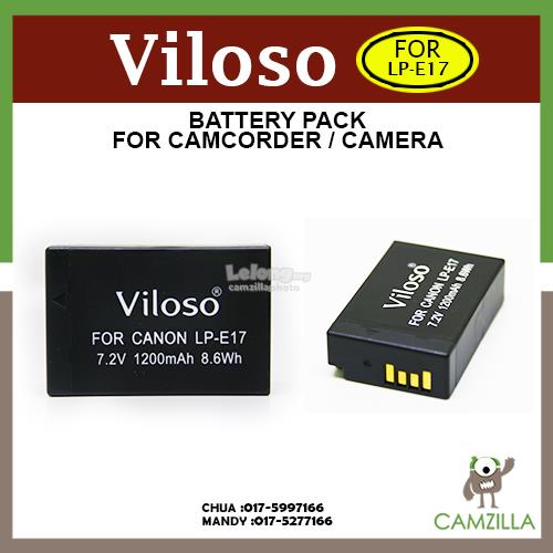 Viloso LP-E17 Rechargeable Li-ion Battery for Canon EOS 750D and 760D