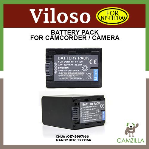 Viloso NP-FH100 High Capactiy Camcorder Battery for Sony Camcorders