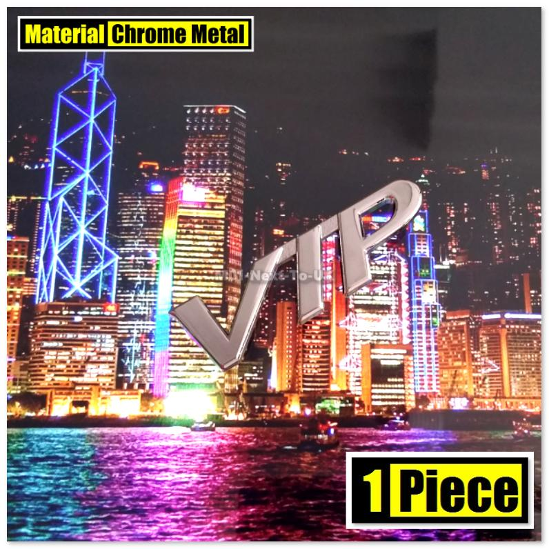 VIP CHROME 8cm HQ 3D Metal Badge Car Trunk Side Auto Emblem Logo Fende