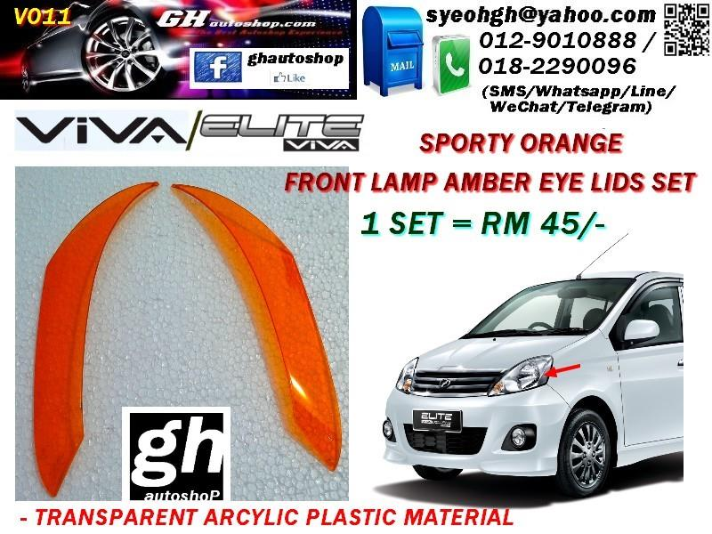 VIVA / VIVA ELITE SPORTY AMBER EYE LID SET FOR FRONT LAMP
