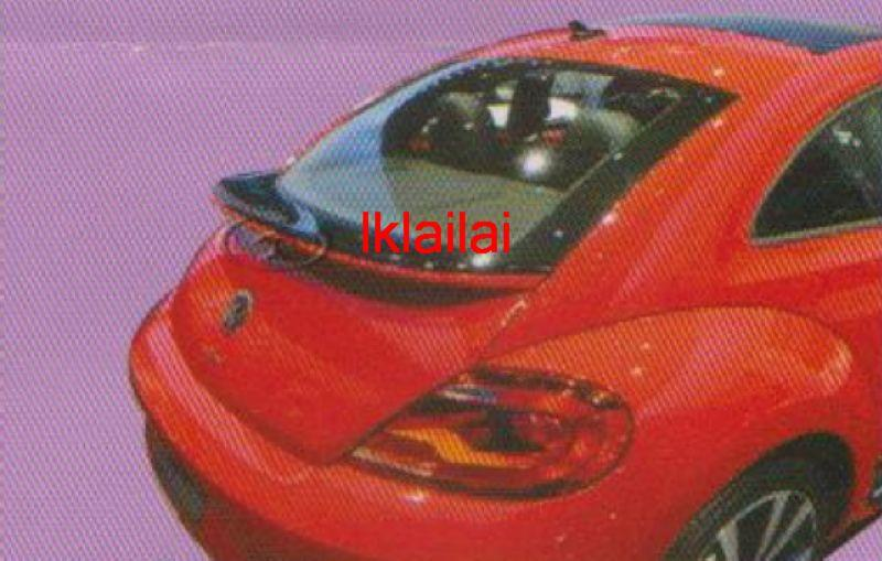 Volkswagen Beetle Spoiler ABS Material Without Paint