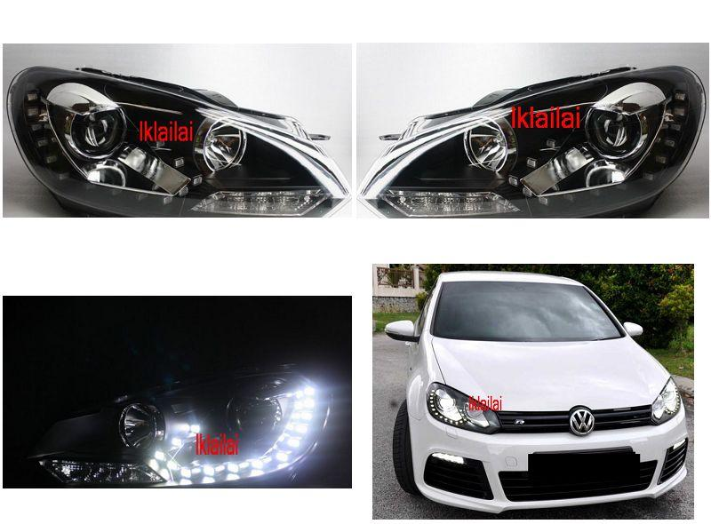 Volkswagen Golf 6 '09-11 Projector Head Lamp LED R8 DRL
