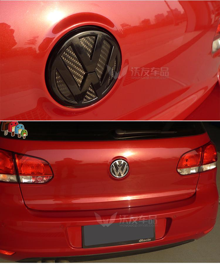 Volkswagen Rear Emblem Real Carbon Fibre covers