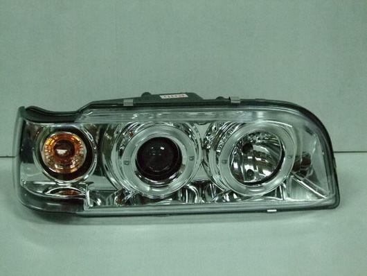 VOLVO 850 855 Crystal Projector Chrome Head Lamp With Rim