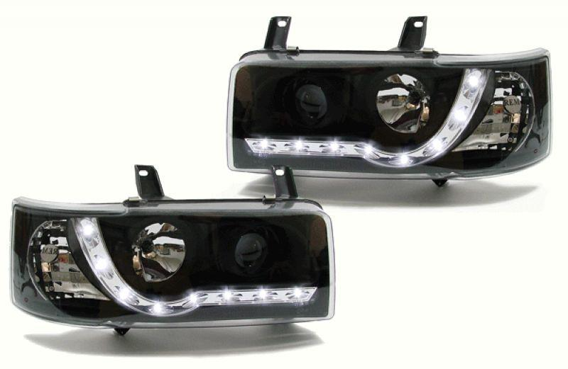 VW T4 '93-97 DRL R8 Projector Head Lamp Black