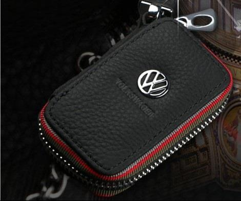 VW Volkswagen Car Key Holder Pouch/ Key Chain Genuine Leather (Type C)