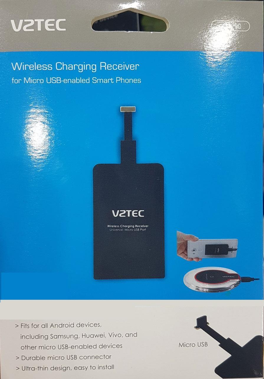 VZTEC WIRELESS CHARGING RECEIVER FOR  MICRO USB SMART PHONE (VZ3220)