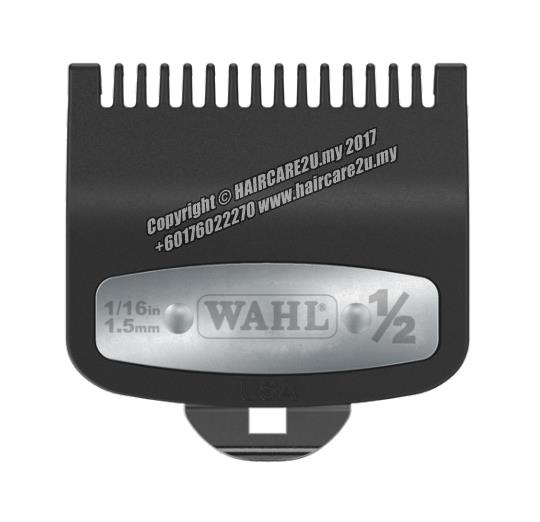Wahl Premium Attachment Cutting Guide Comb with Metal (#0.5 - 1.5mm)