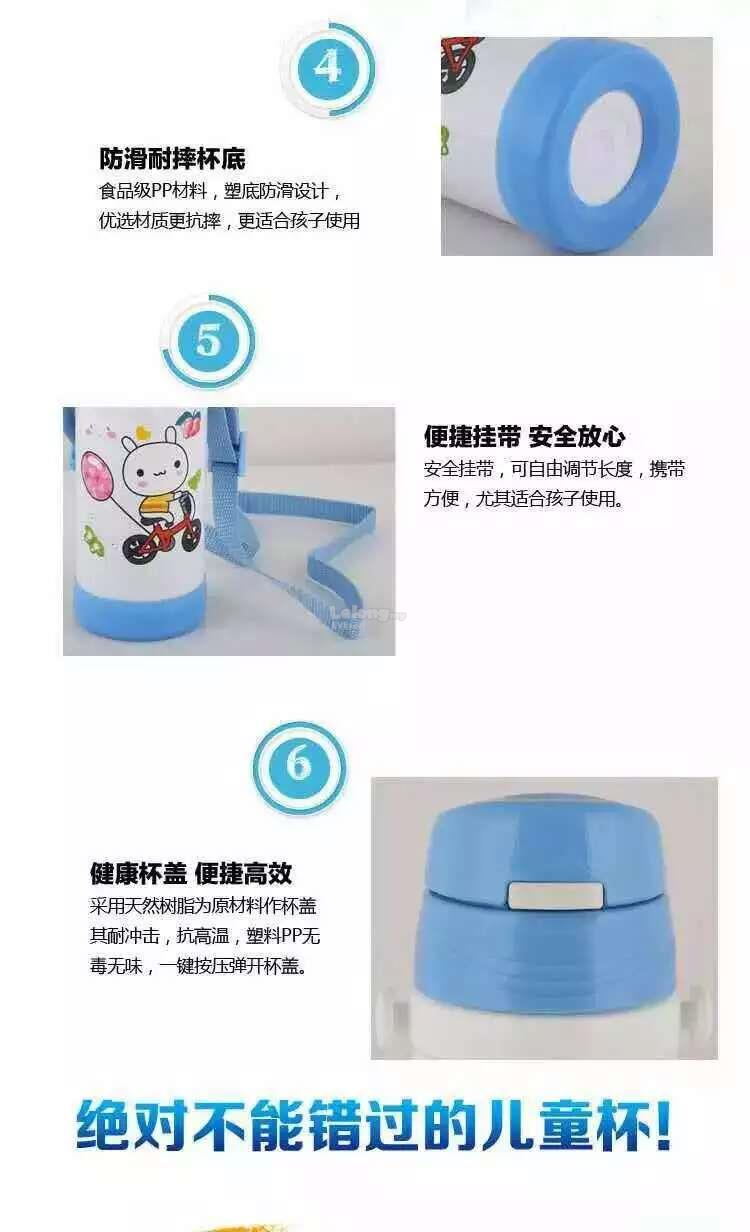 Warmmie Children cartoon thermos Vacuum Flask - Light Purple Mickey