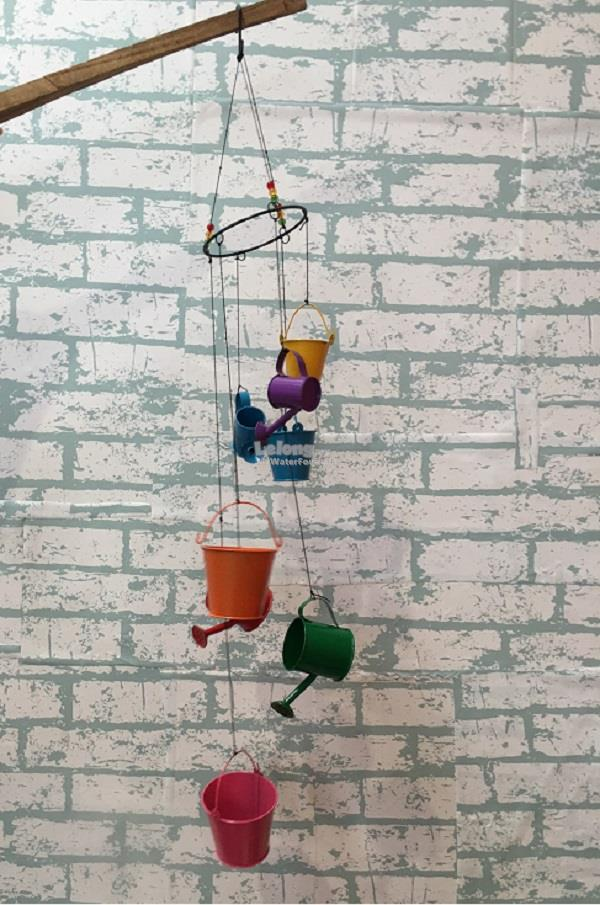 Watering Can Wind Chime Decoration Gift Miniature