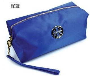 Waterproof High Capacity Cosmetic Bag / Clutch - Blue