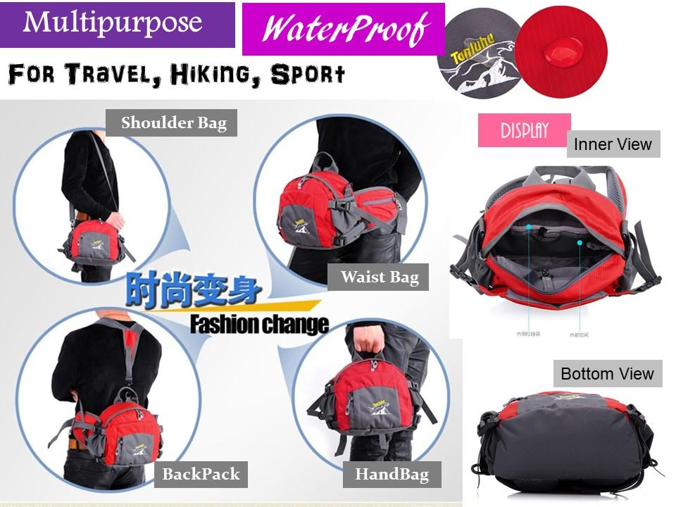 Waterproof Sling Bag, Waist Bag, Sho (end 1/8/2015 10:15 AM)