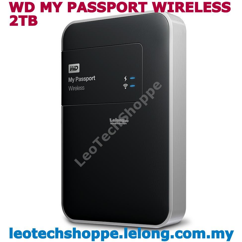WD MY PASSPORT WIRELESS - 2TB  EXTERNAL PORTABLE HARDDISK