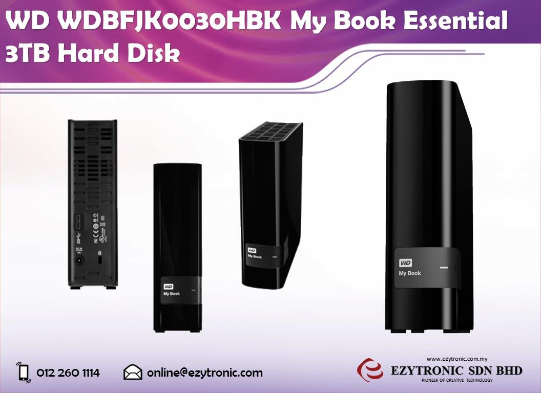 WD WDBFJK0030HBK My Book Essential 3TB Hard Disk