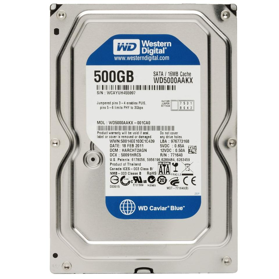 WD Western Digital Caviar Blue 500GB 3.5' in Sata Desktop PC Hard Disk