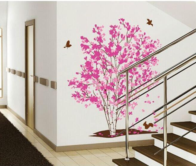 Wealth Tree Decorative Decoration Golden Calla's Wall Stickers-TY1161