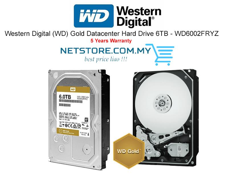 Western Digital (WD) Gold Datacenter Hard Drive 6TB - WD6002FRYZ