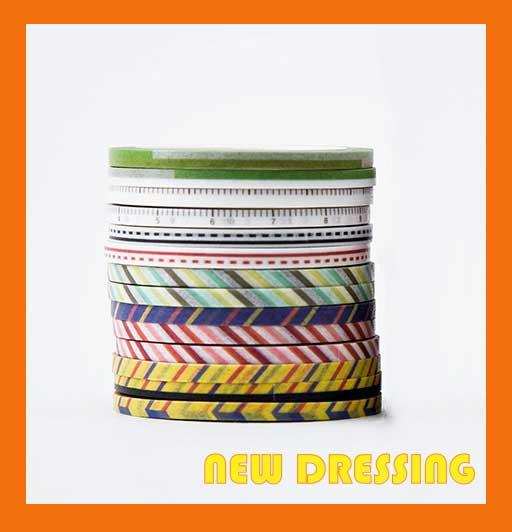 WH060B - 3mm Basic Pattern Washi Tape (14 Rolls) V2