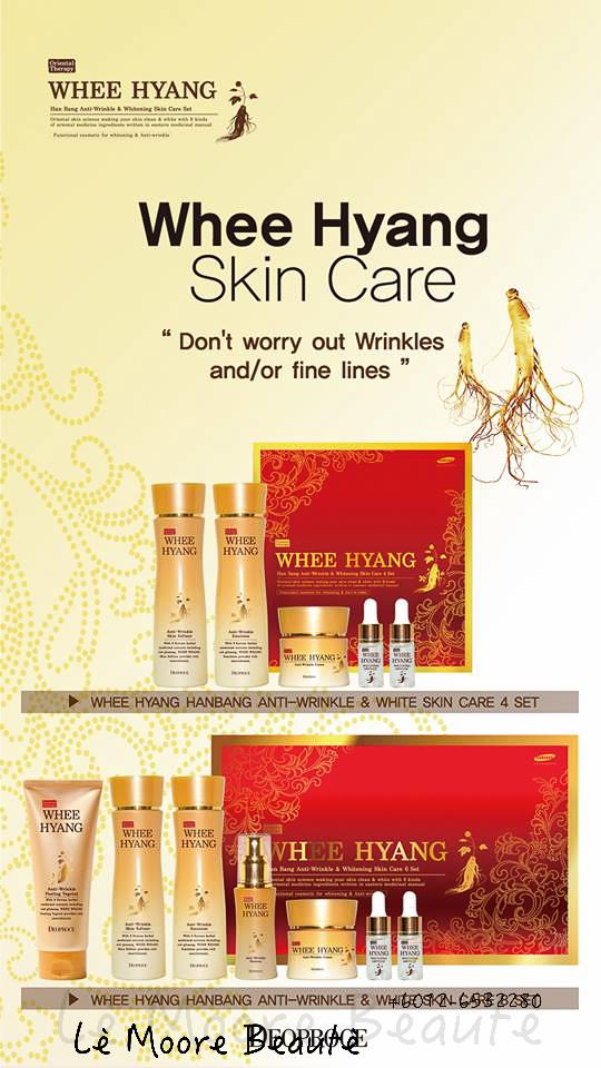 Whee Hyang Anti Wrinkle & Whitening Skin Care 5 SET