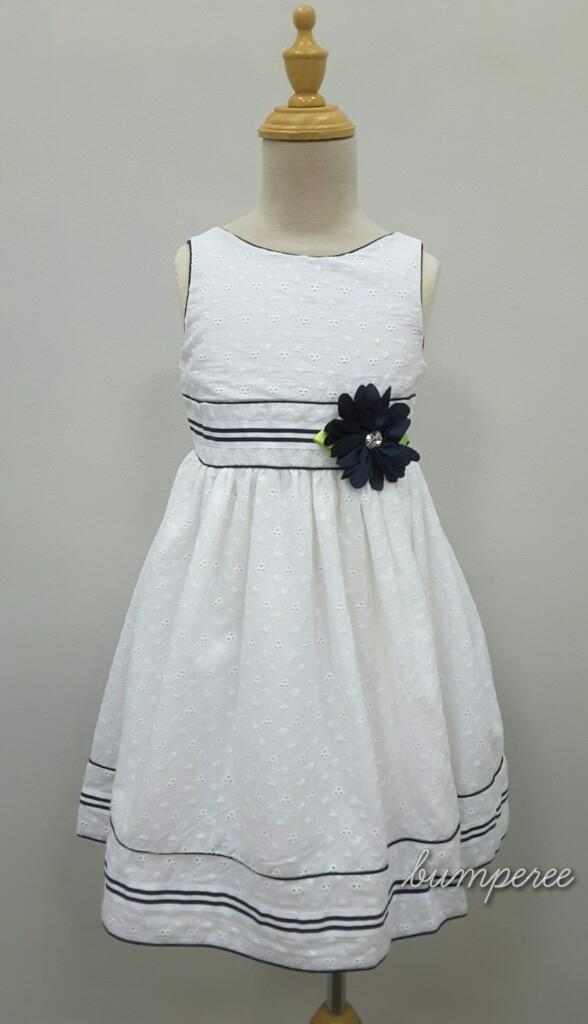 White Eyelet Cotton Dress