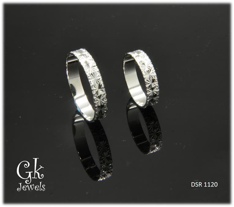 White Gold On 925 Silver Couple Ring per pair DSR 1120