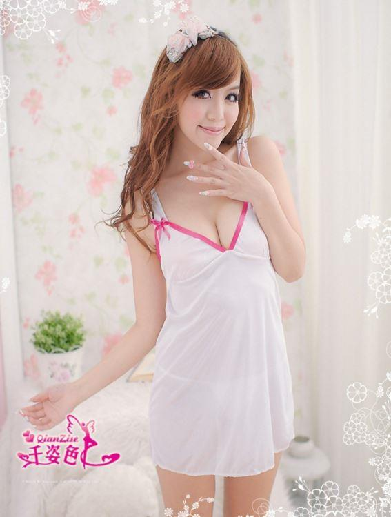 White Nightdress Lingerie Y1165