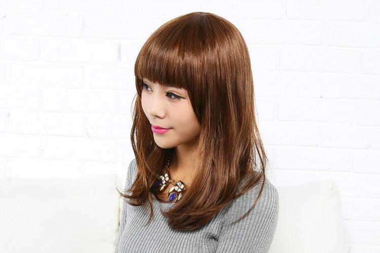 Wig Female Korean Short Straight Fluffy Hair 韩版整