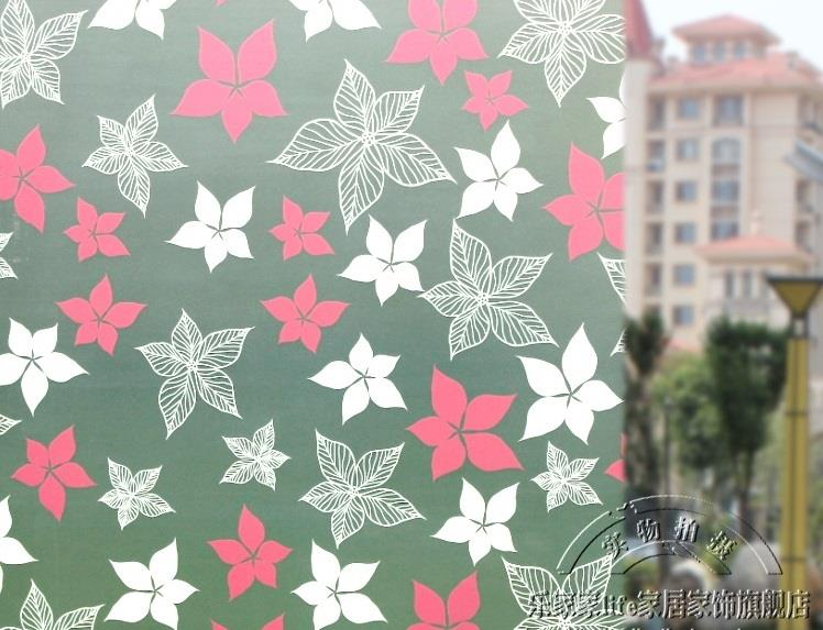 Window Sticker Glass Film GF16 (Pink n White Flower)