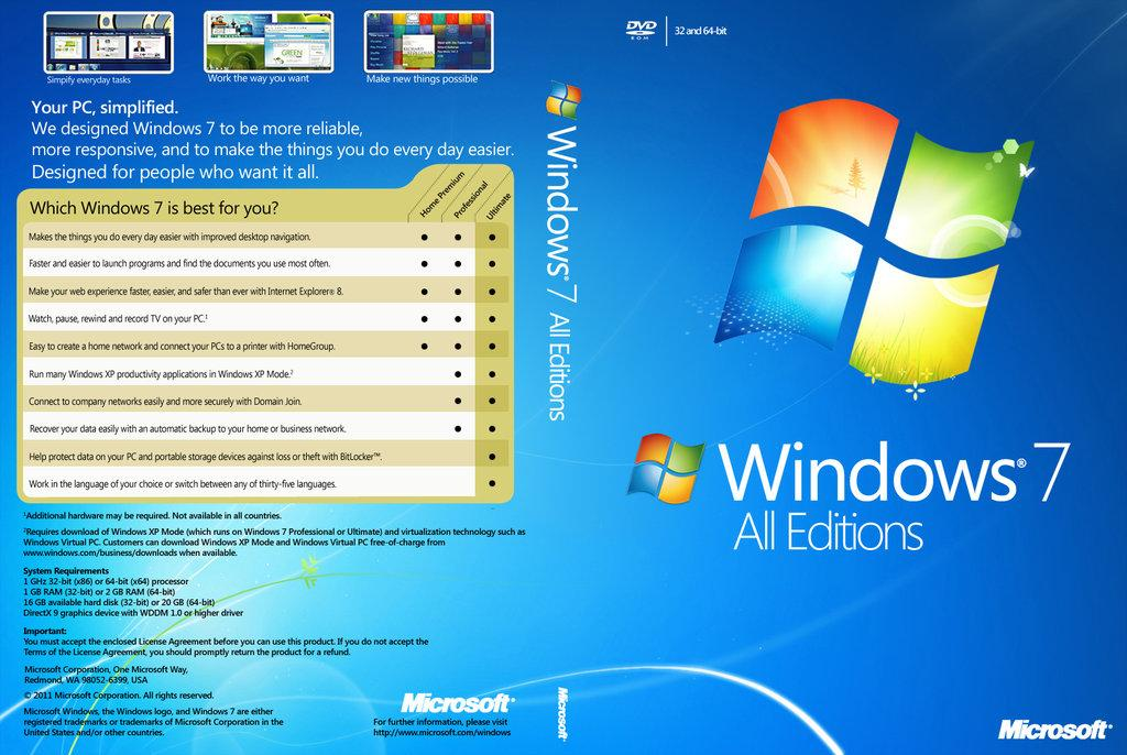 Windows 7 Pro/Home Premium/Ultimate(The ONLY Real Unlimited Reinstall)