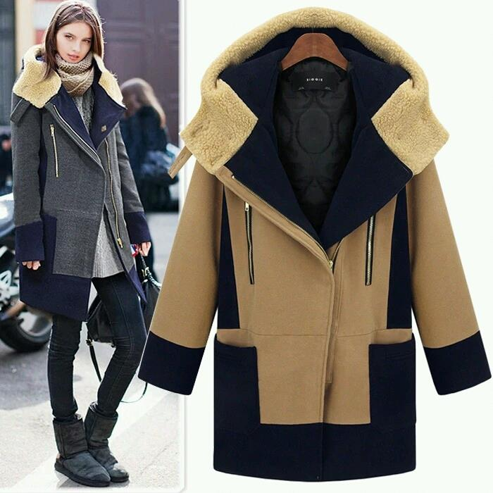 Winter Long woolen coat for women ( M-5XL )