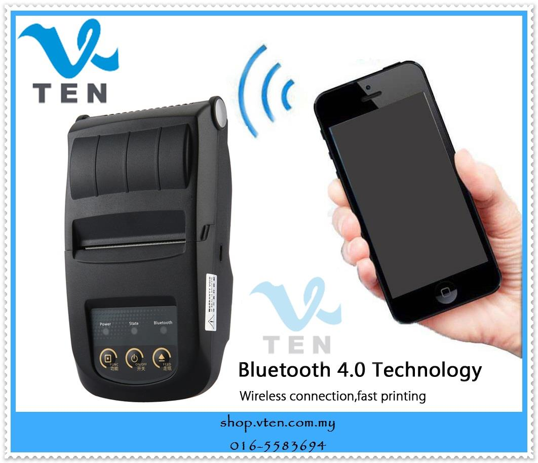 Wireless Bluetooth 4.0 Receipt Printer For Supermarket  Restaurant