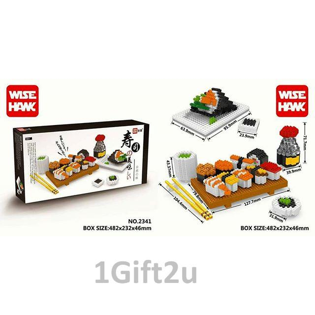 Wise Hawk Sushi Set Nanoblocks Building Set