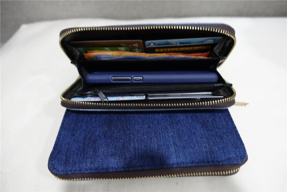 Woman Denim Purse (Dark Blue)