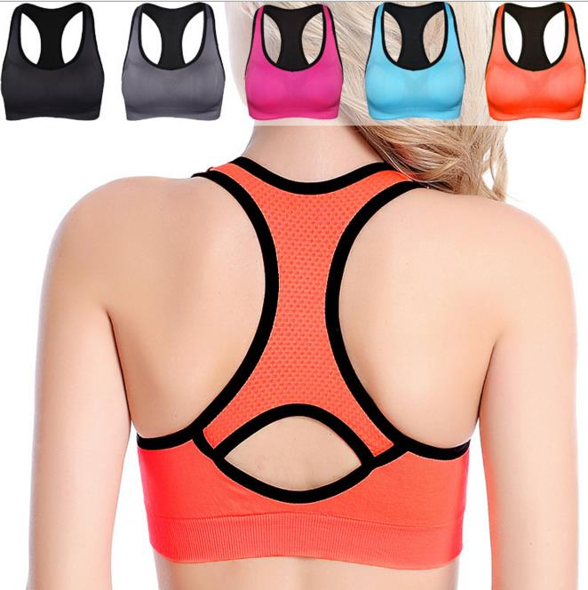 Women Sports Bra Seamless High Impact Racerback Workout Yoga Bra