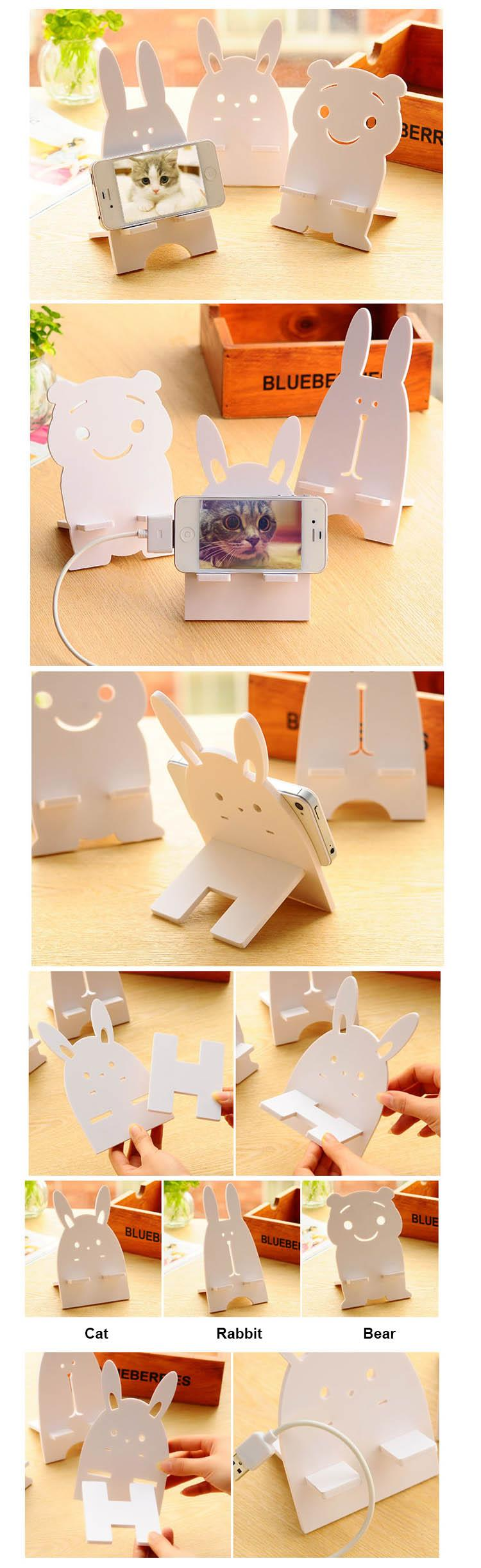 Wooden Cartoon Mobile Phone Holder