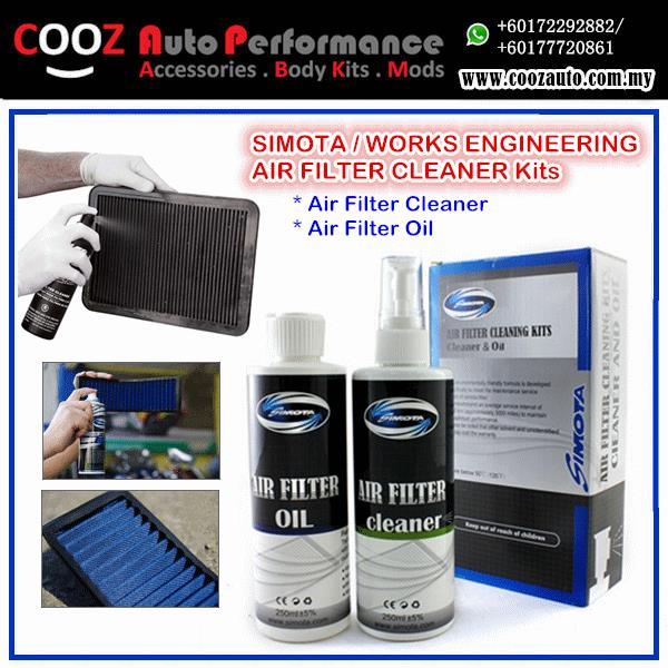 WORKS ENGINEERING SIMOTA AIR FILTER CLEAN CLEANER SERVICE KIT