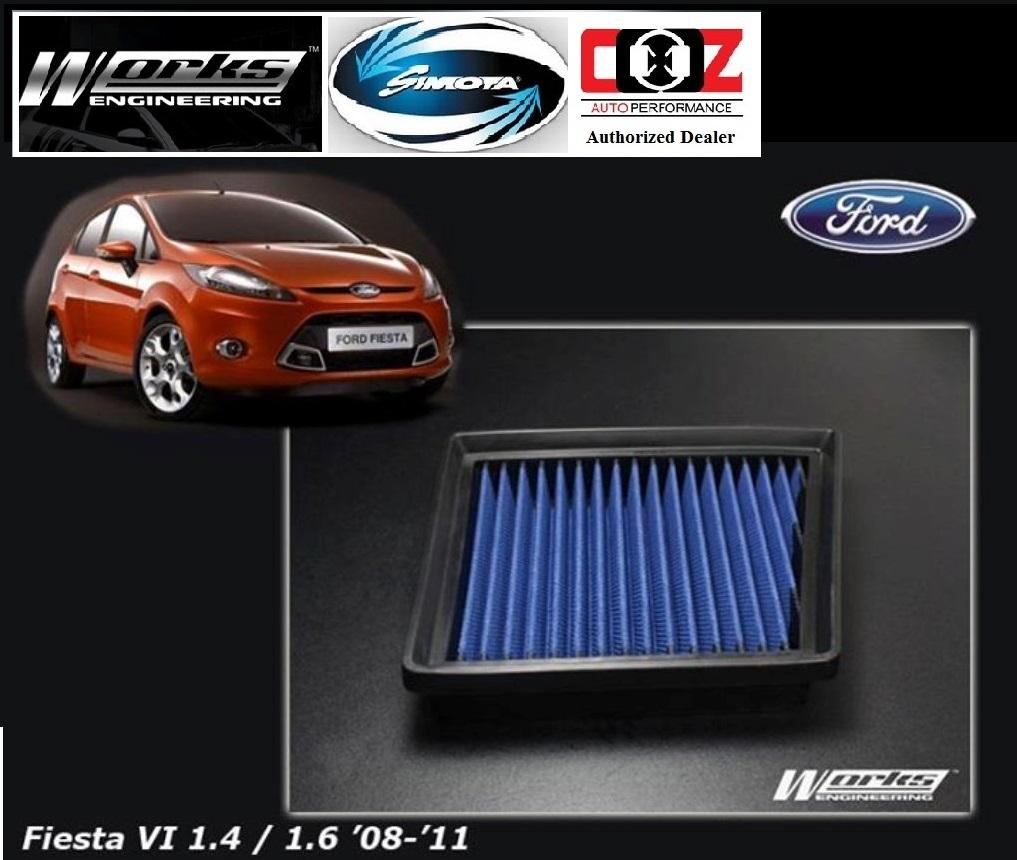WORKS ENGINEERING SIMOTA DROP IN AIR FILTER FORD FIESTA VI 1.6 (09-11)